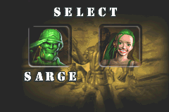 Army Men Advance - Character Select  - There are two playable characters... - User Screenshot